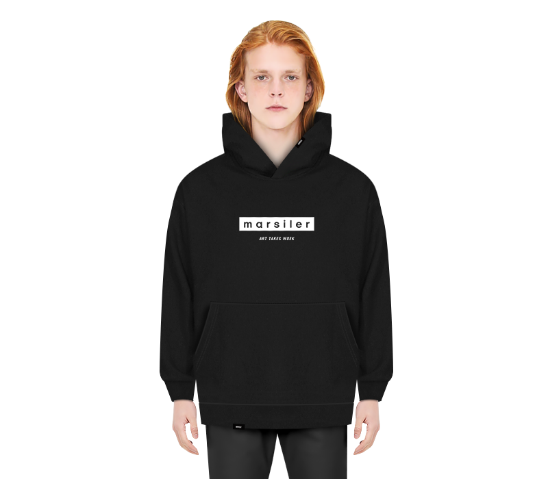 BASIC HOODED SWEAT SHIRT BLACK