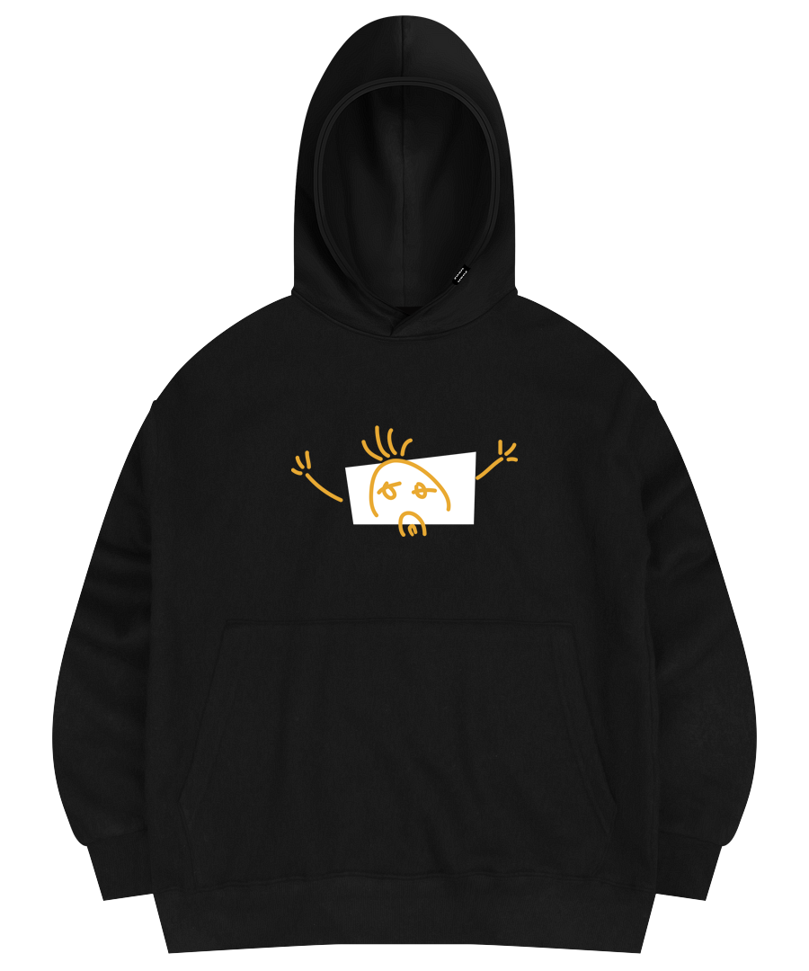LONELY HOODED SWEAT SHIRT BLACK
