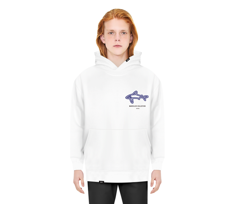 SHARK HOODED WHITE