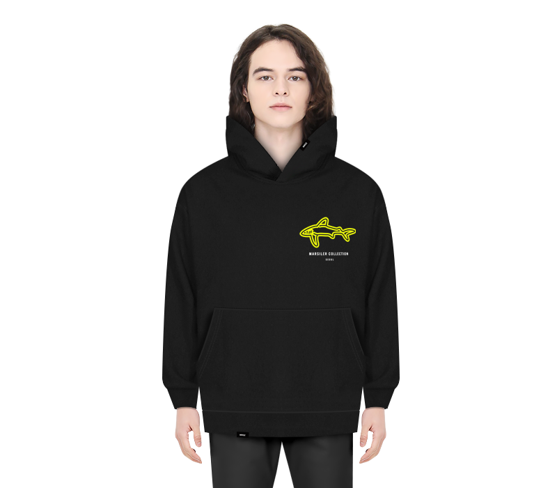 SHARK HOODED BLACK